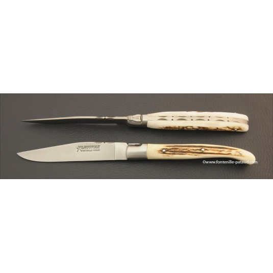 Laguiole Forged Steak Knife Real stag horn