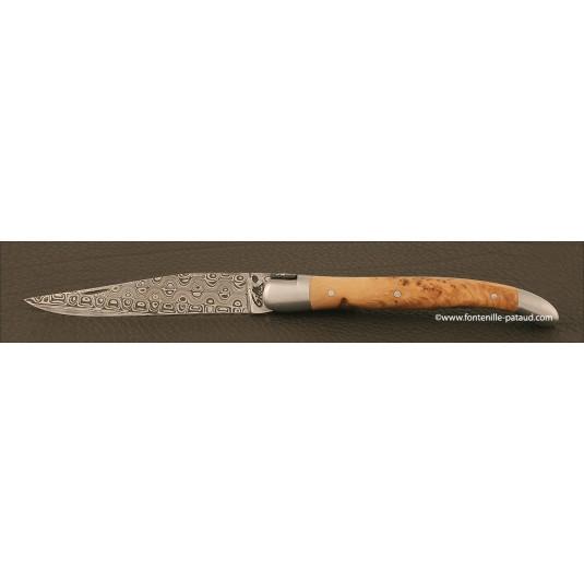 Laguiole Traditional 12 cm Damascus Range Juniper Burl