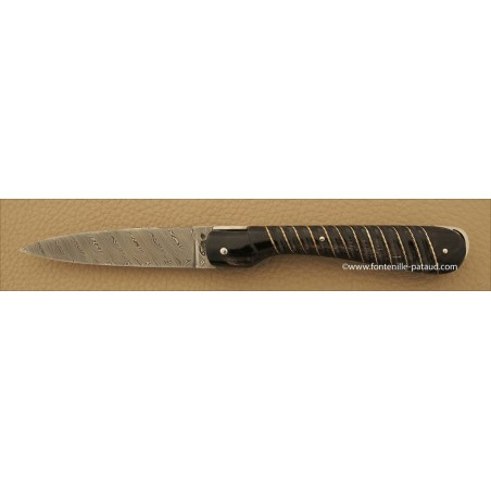 Corsican Sperone Collection Range Silver Thread Black Horn