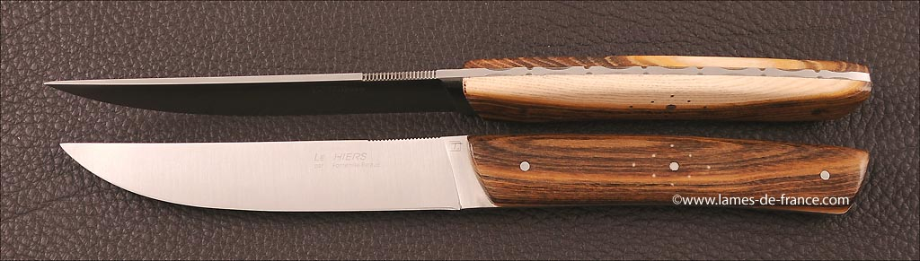 Table knives le Thiers pistachio wood, handmade in France