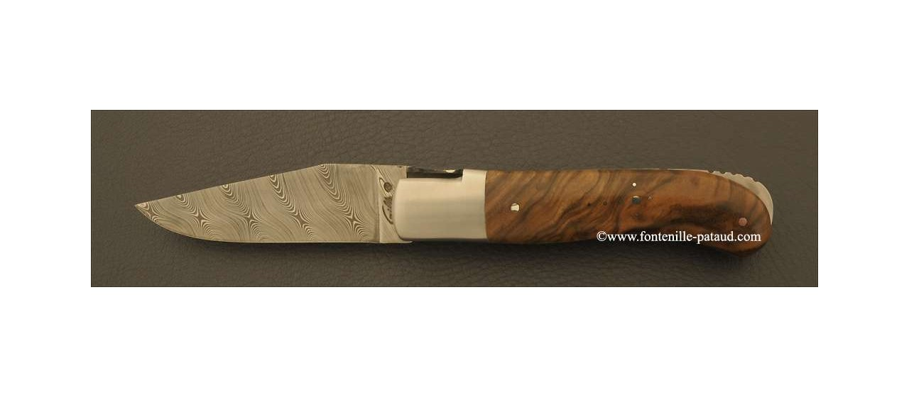 Laguiole Knife Gentleman Damascus Range Walnut