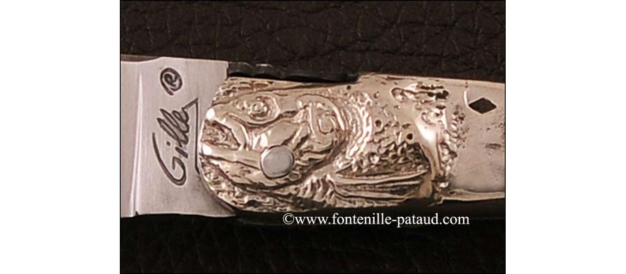 Laguiole Knife Picnic Classic Range Sterling silver bolster Juniper burl
