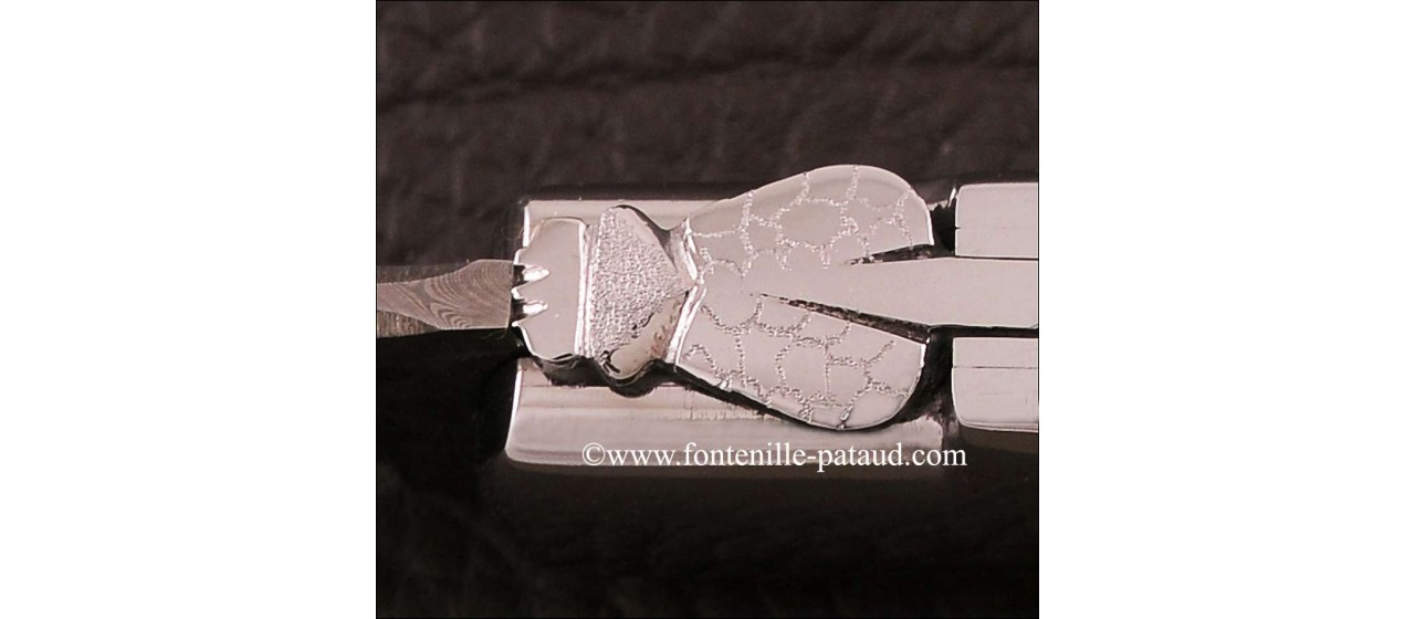 Laguiole Knife Gentleman Damascus Range Warthog Ivory