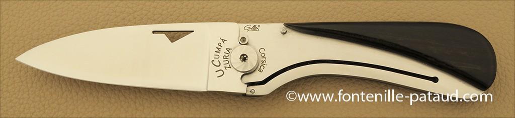 Corsican U Cumpa knife Classic range Ebony