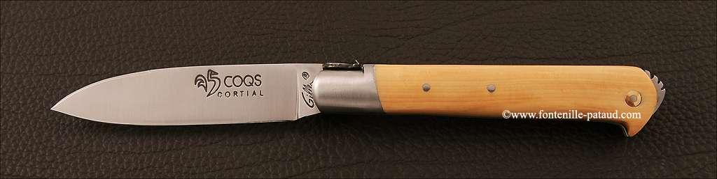 Couteau le 5 Coqs Buis fabriqué en France