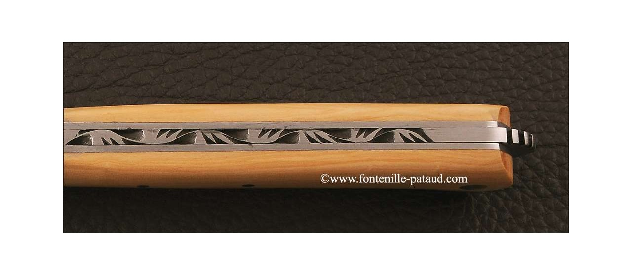Le 5 Coqs knife Boxwood hand made in France