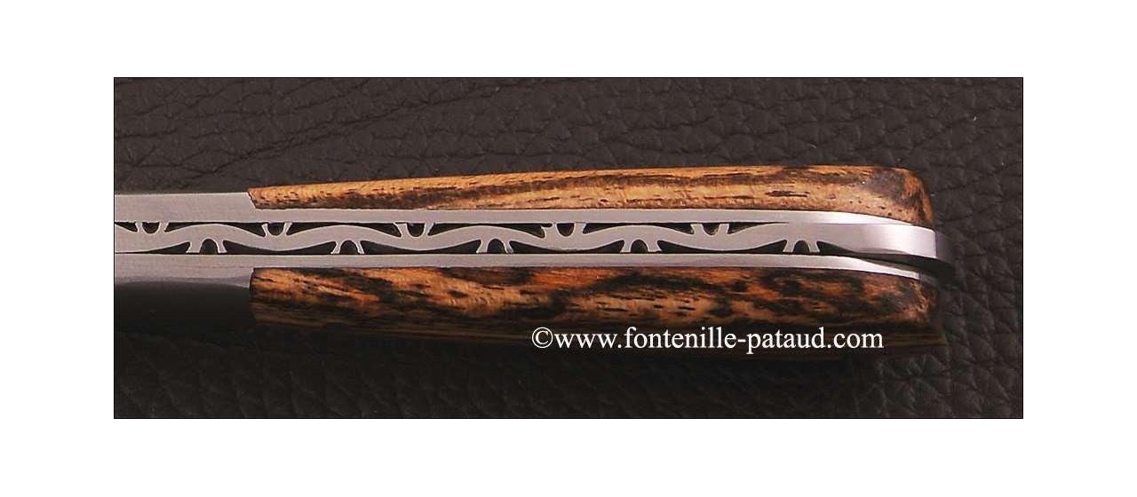 Couteau Pialincu Corse Classique Bocote