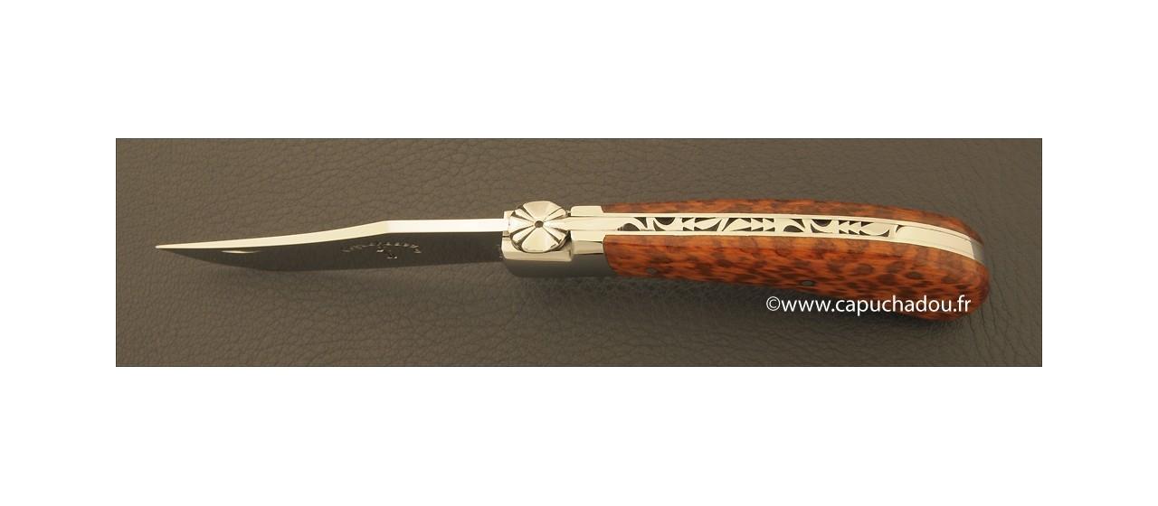 """Le Capuchadou"" 10 cm hand made knife, amourette"