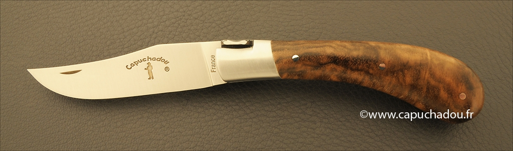 """Le Capuchadou"" 10 cm hand made knife, Boxwood"