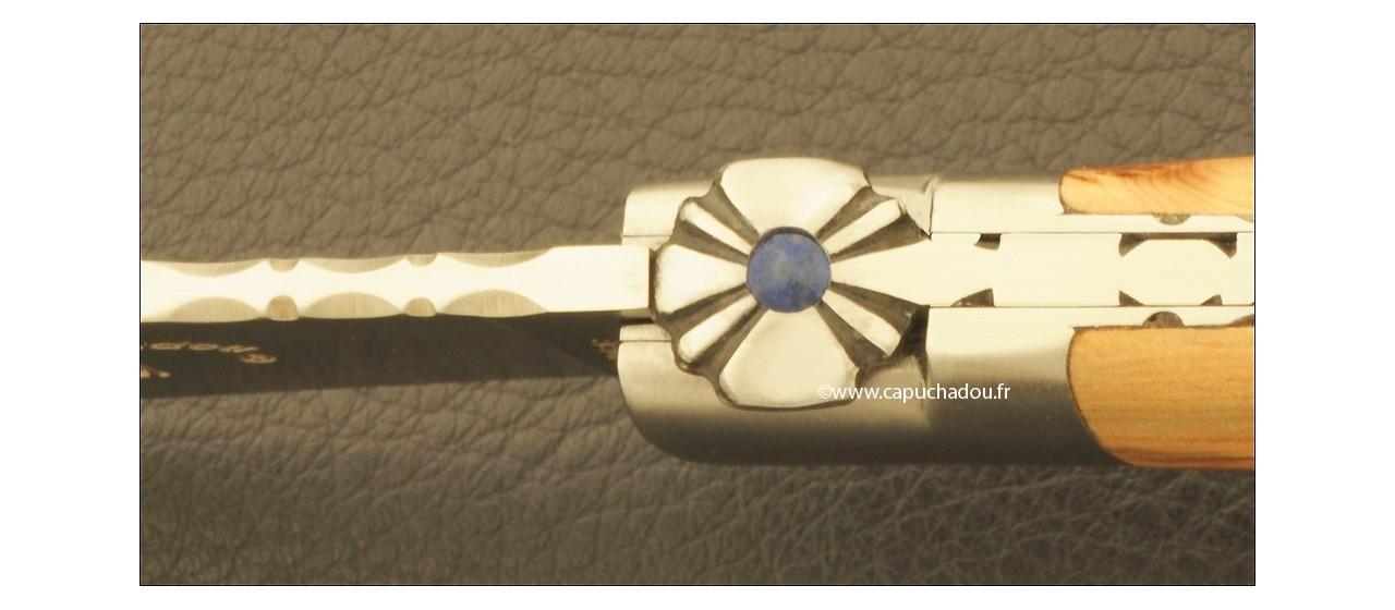 """Le Capuchadou-Guilloché"" 10 cm hand made knife, juniper"