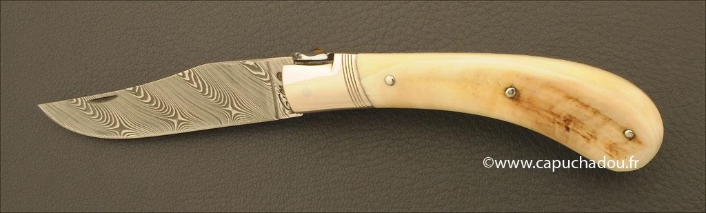 Le Capuchadou 10 cm, ivoire de Phacochère & Damas torsadé