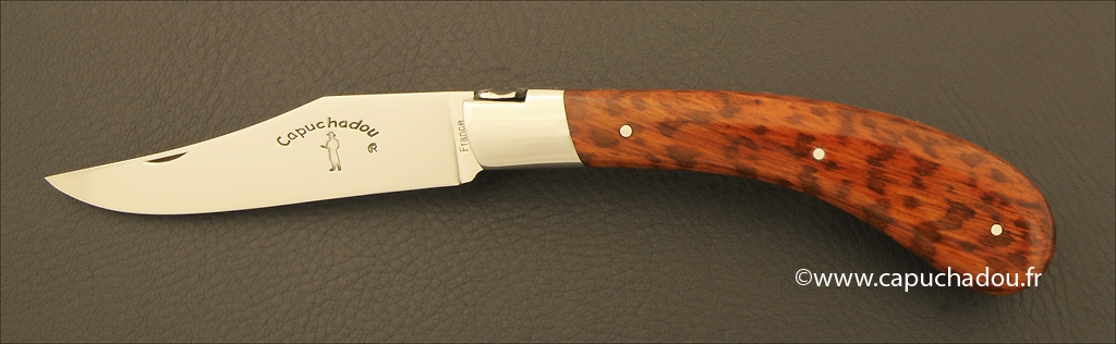"""Le Capuchadou"" 12 cm hand made knife, amourette"