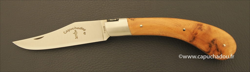 """Le Capuchadou"" 12 cm hand made knife, juniper"
