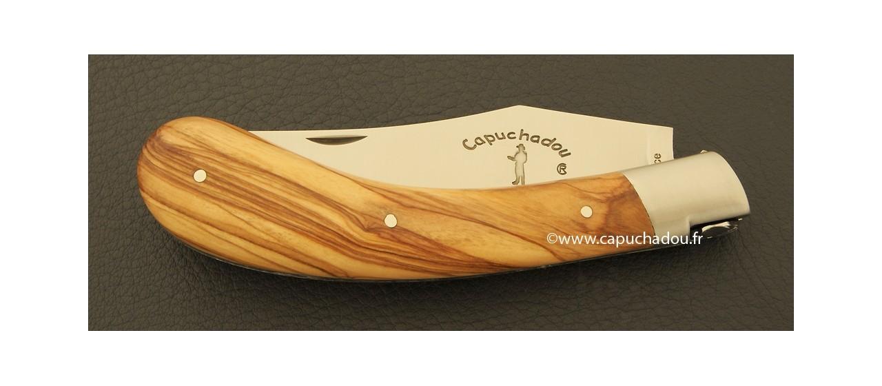 """Le Capuchadou"" 12 cm hand made knife, olivewood"