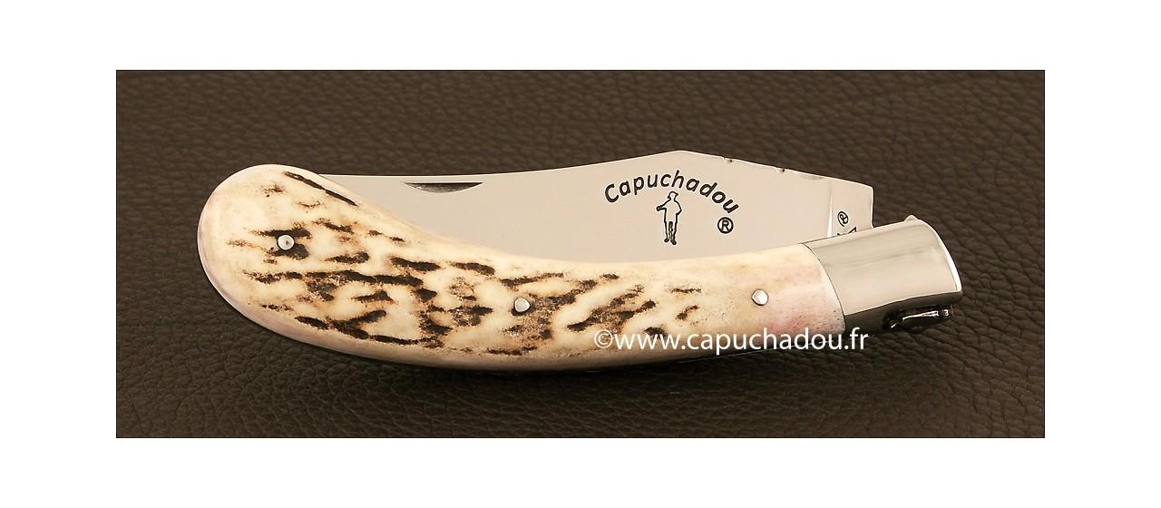 """Le """"Capuchadou - Guilloché"""" 12  cm, Bois de cerf"""