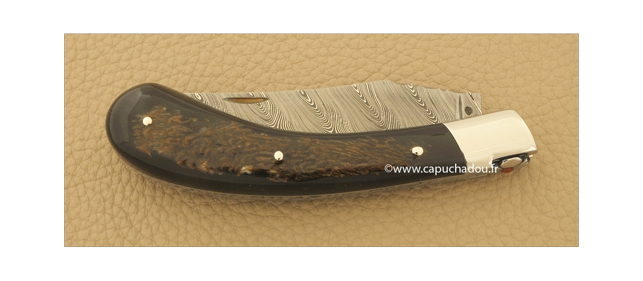Le Capuchadou 12 cm, Buffle Brut & Damas torsadé