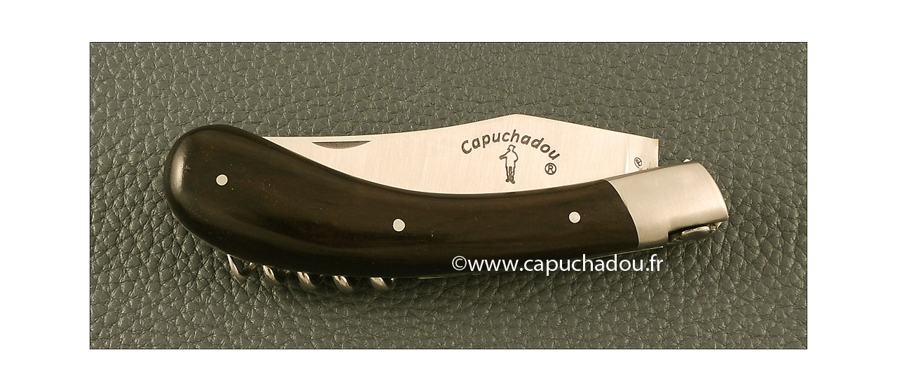 """Le Capuchadou"" 12 cm Corkscrew, Real Ebony"