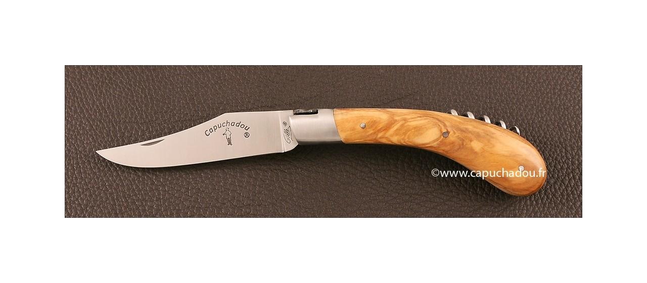 """""""Le Capuchadou"""" 12 cm Corkscrew, Olivewood"""