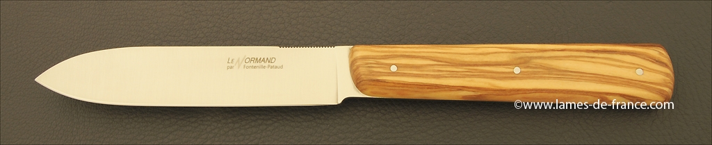 Set of 6 Normand knives Olivewood