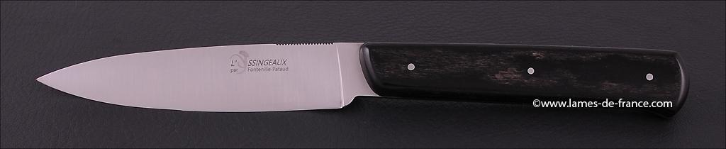 Set of 6 Yssingeaux knives False Ebony
