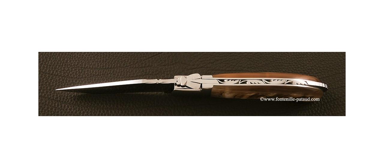 Couteau Laguiole en corne de bélier