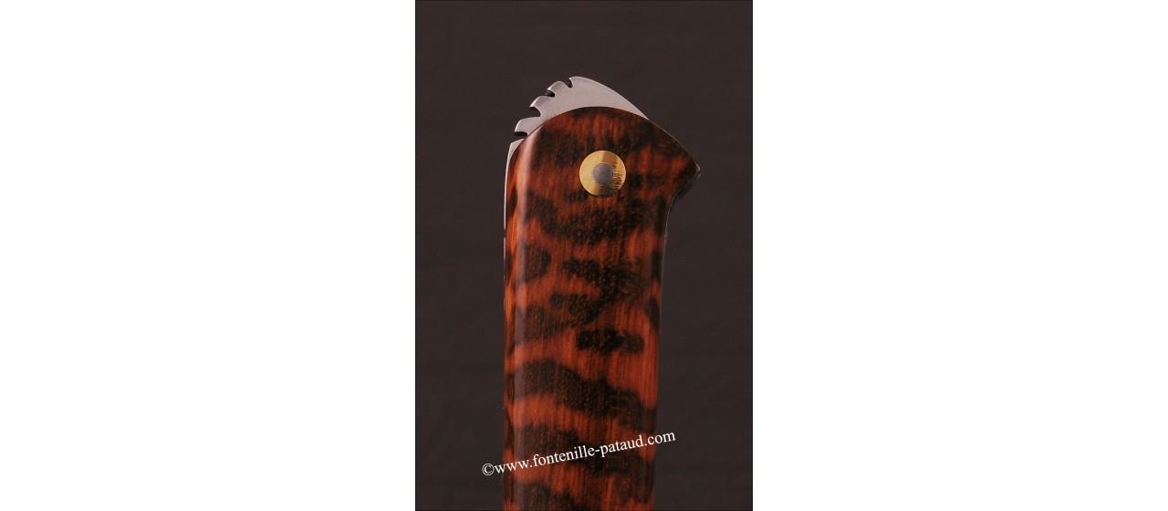 Couteau le 5 Coqs Damas Amourette fabriqué en France