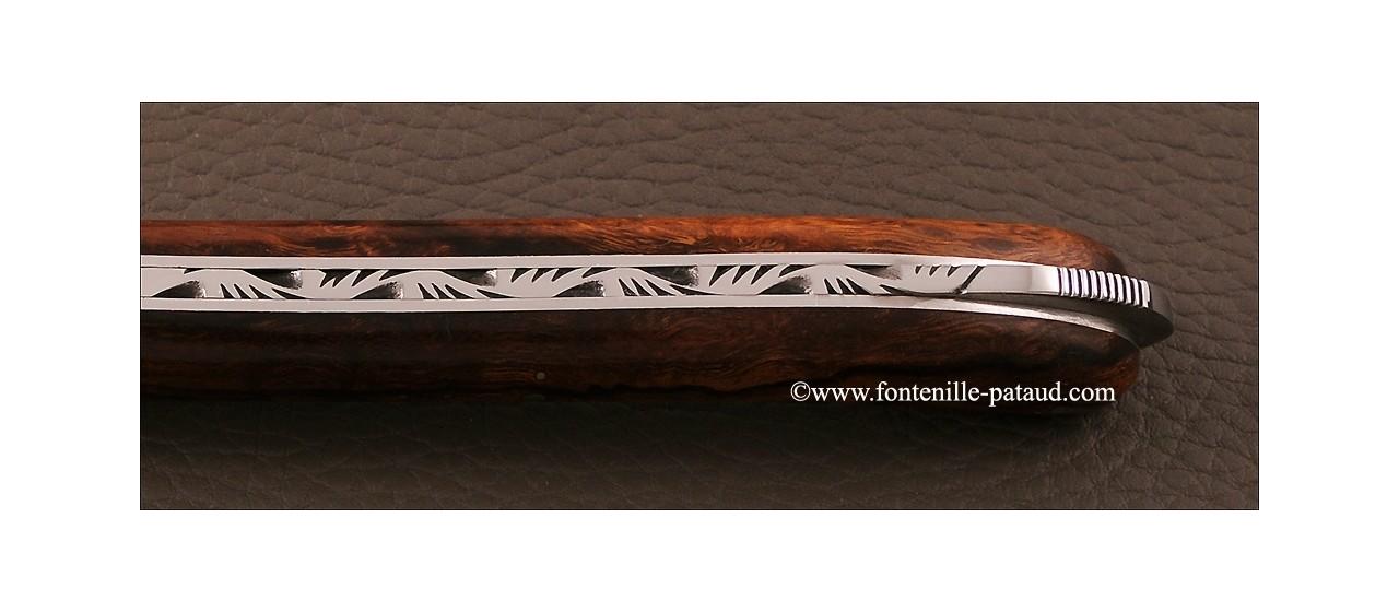 Laguiole avec sécurité en bois de fer d'Arizona