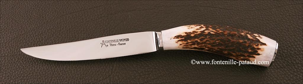 Set of 6 Steak Knives Stag horn