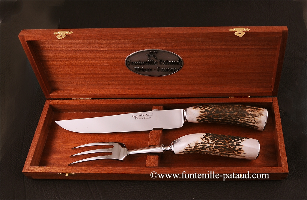 Carving Set Stag horn