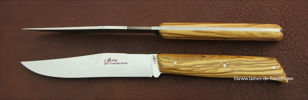 Set of 2 Alpin knives Olivewood