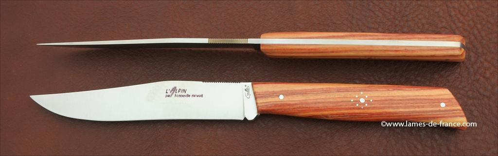 Set of 2 Alpin knives Rosewood