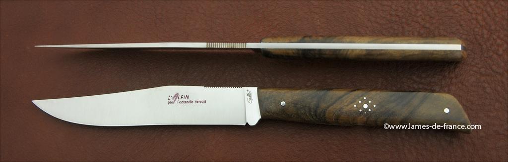 Set of 2 Alpin knives Walnut