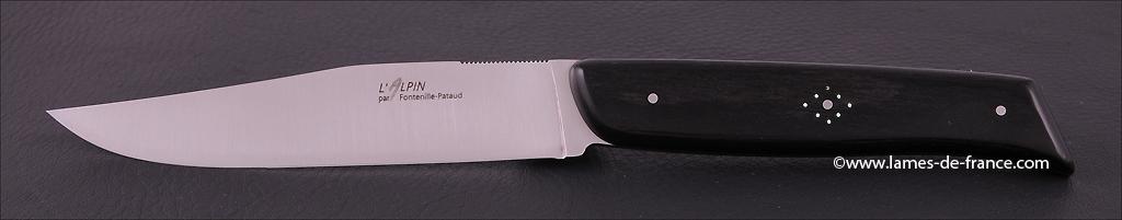 Set of 2 Alpin knives real Ebony