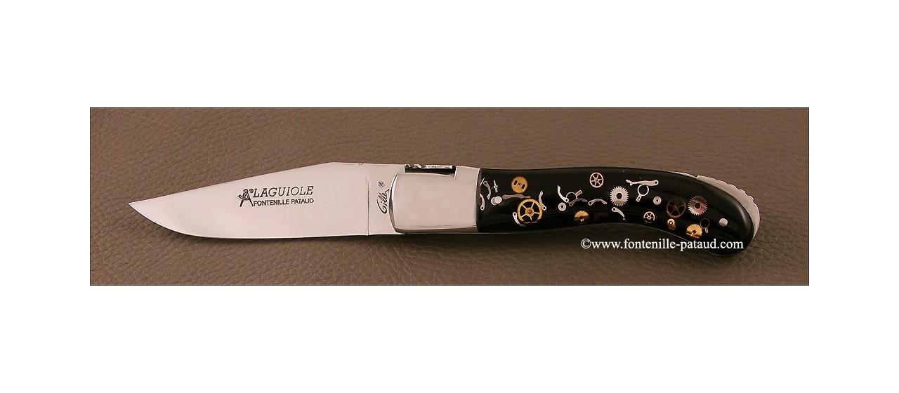 Couteau Laguiole sport mécanismes de montre