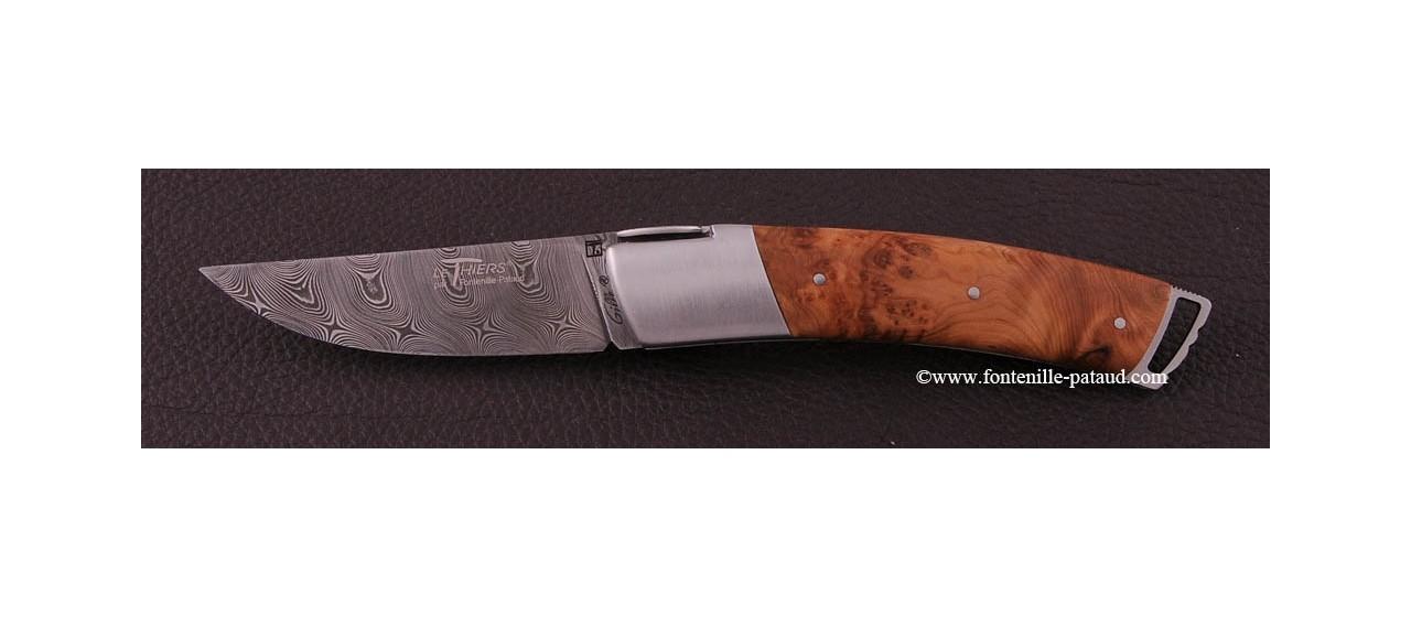 Couteau Le Thiers ® Gentleman Damas Genévrier