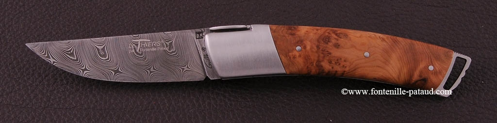 Le Thiers ® Gentleman knife Damascus Juniper