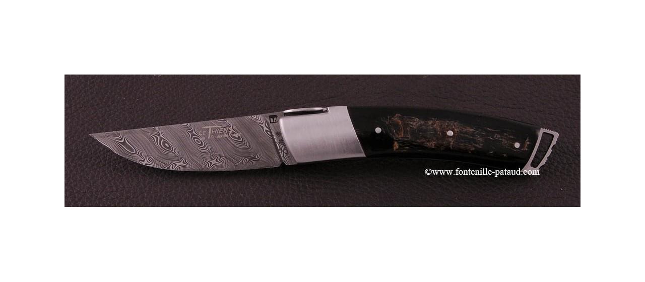 Couteau Le Thiers ® Gentleman Damas Buffle brut