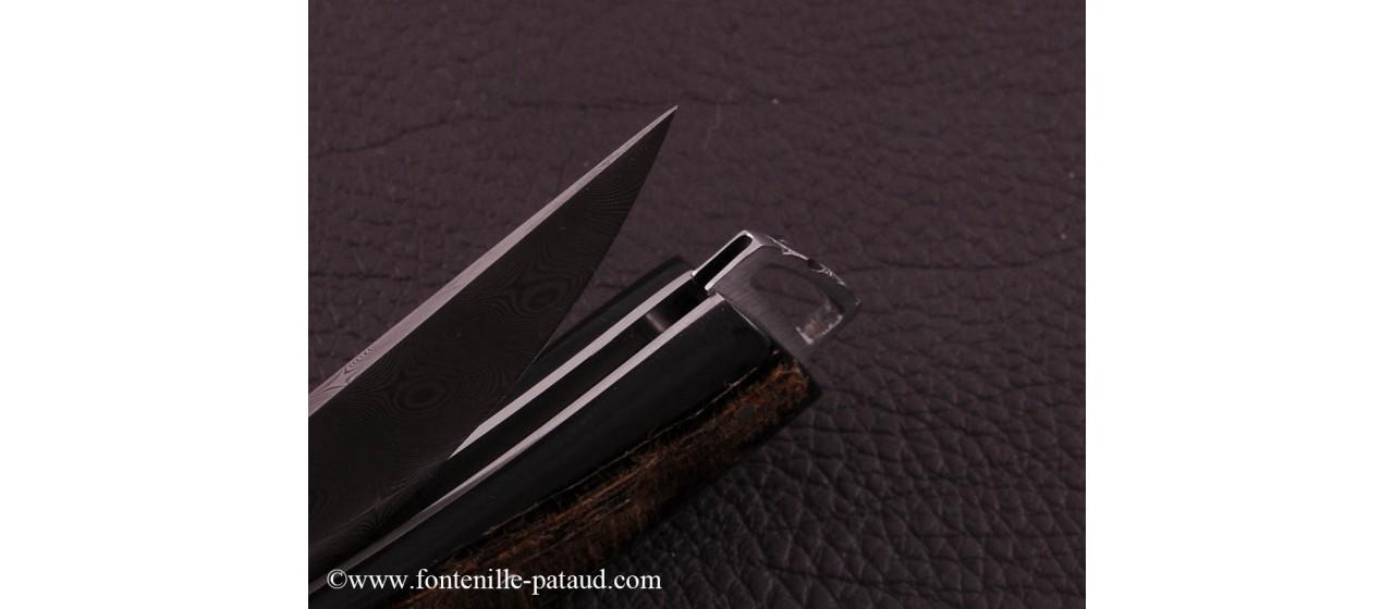 Le Thiers ® Gentleman knife Damascus Buffalo bark