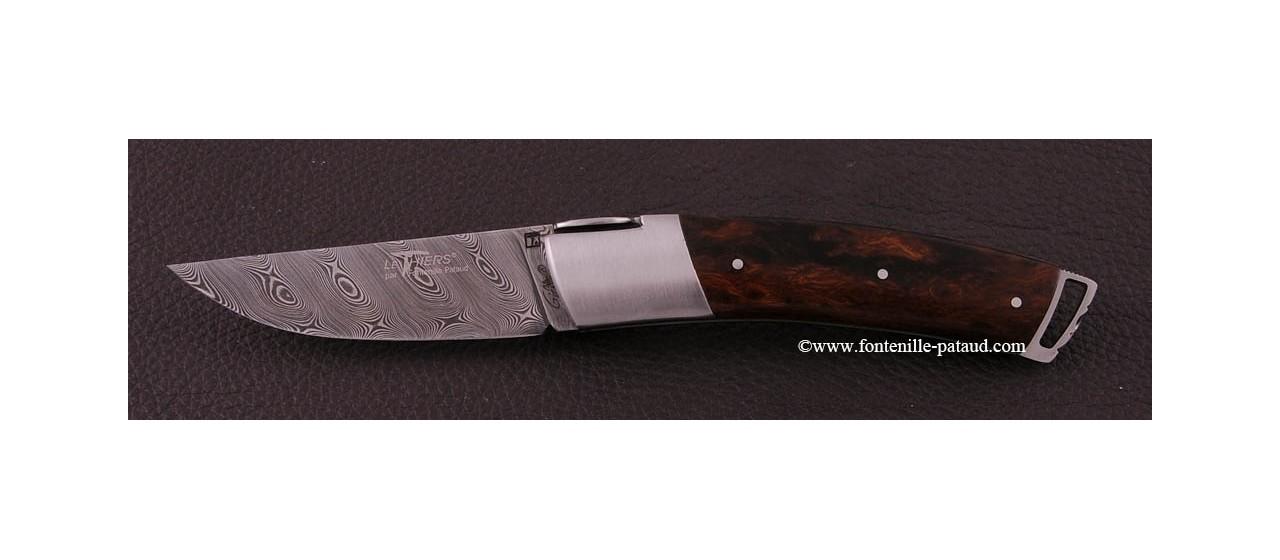Couteau Le Thiers ® Gentleman Damas Bois de fer