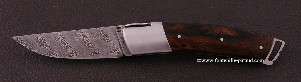 Le Thiers ® Gentleman knife Damascus Ironwood
