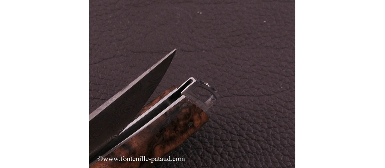 Le Thiers ® Gentleman knife Damascus Walnut