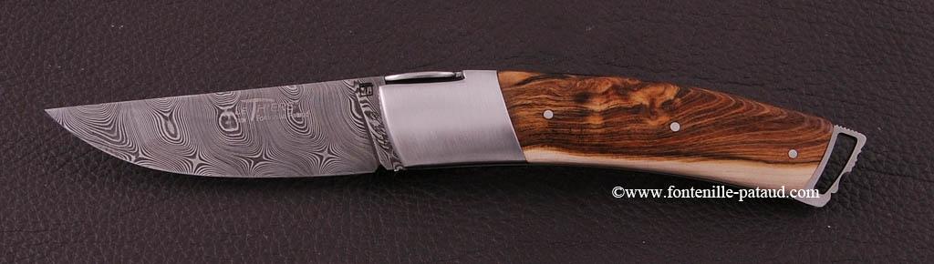 Couteau Le Thiers ® Gentleman Damas Pistachier