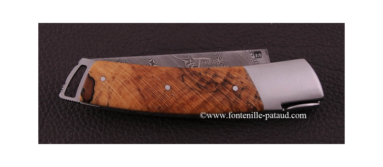 Le Thiers ® Gentleman knife Damascus Stabilized beech