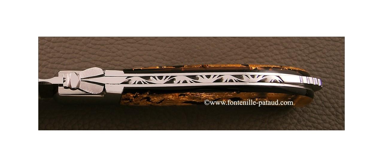 Laguiole sport knife gold sheet