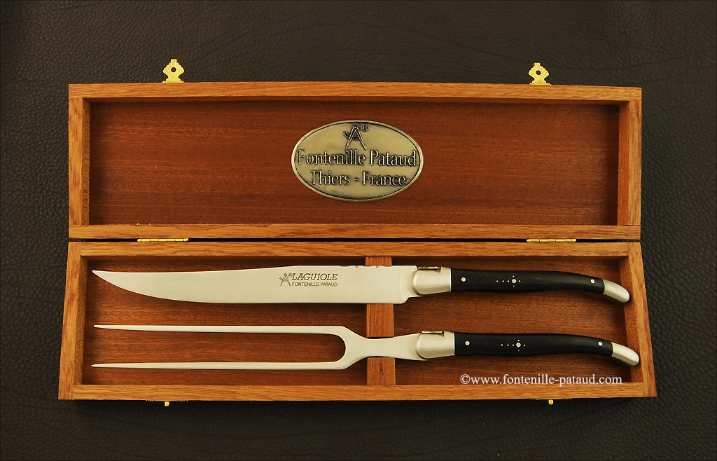 Laguiole Carving Set Real ebony