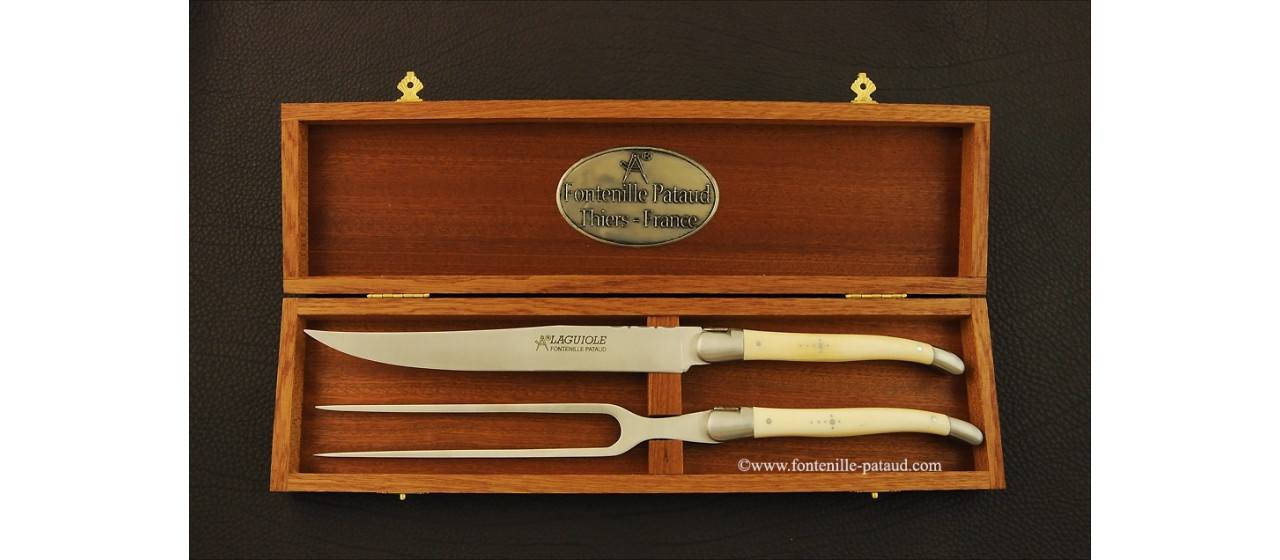 Laguiole Carving Set Real bone