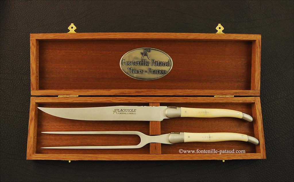 Laguiole Carving Set Real bone
