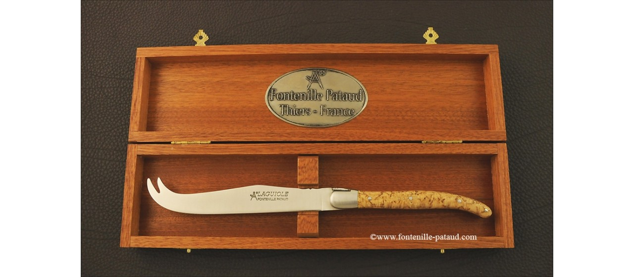 Laguiole Cheese Knife Curly birch