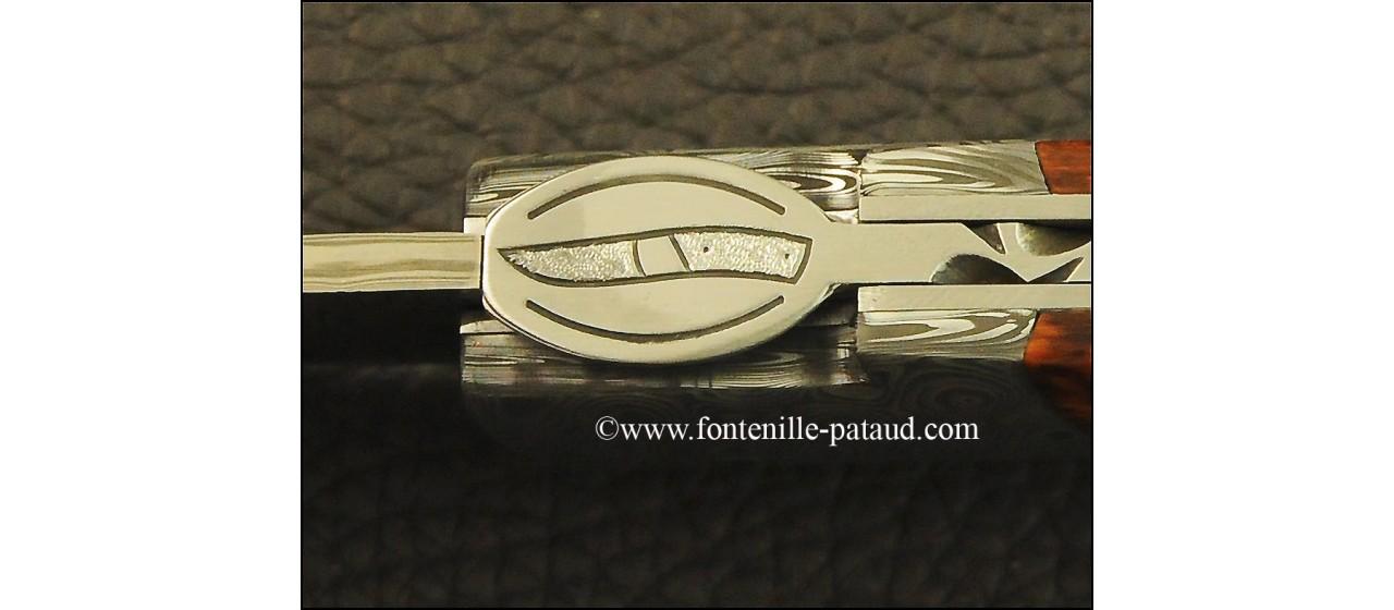 Le Thiers ® Gentleman knife Damascus Amourette