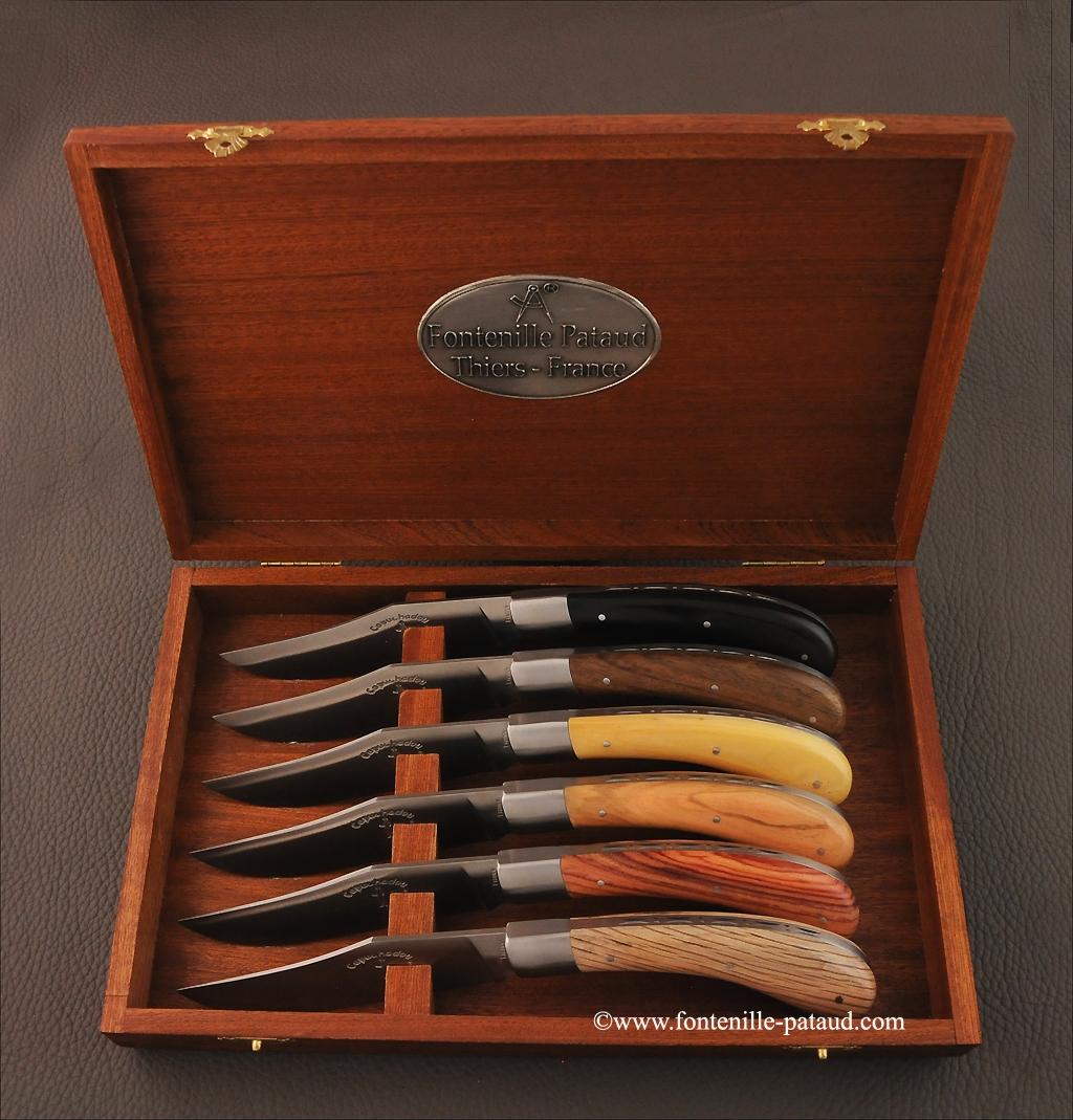 Set of 6 Le Capuchadou ® knives Mixed wood